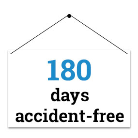 180 days accident-free